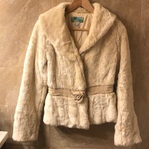 Beth Bowley faux fur jacket